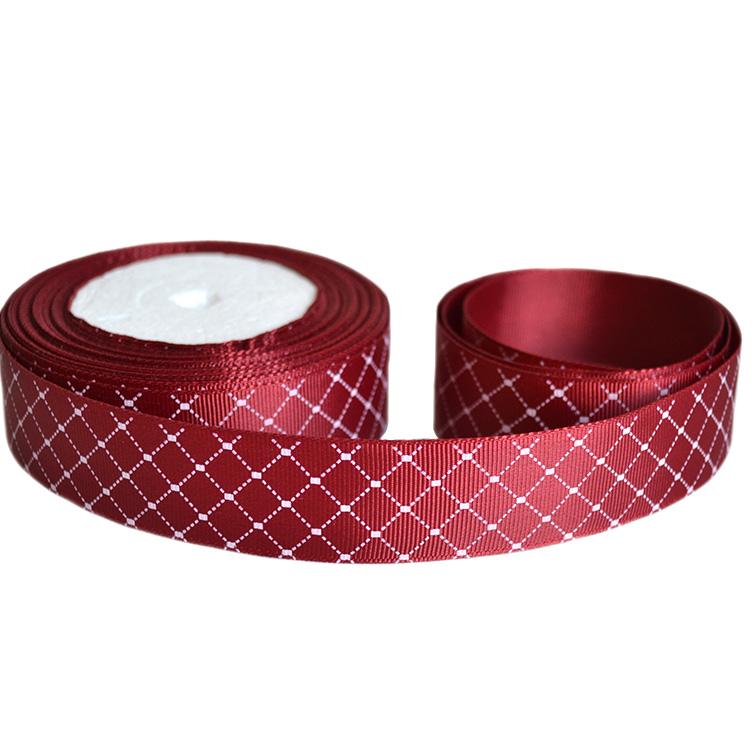 Репсовая лента «Ромбики» 2,5 см (1м)