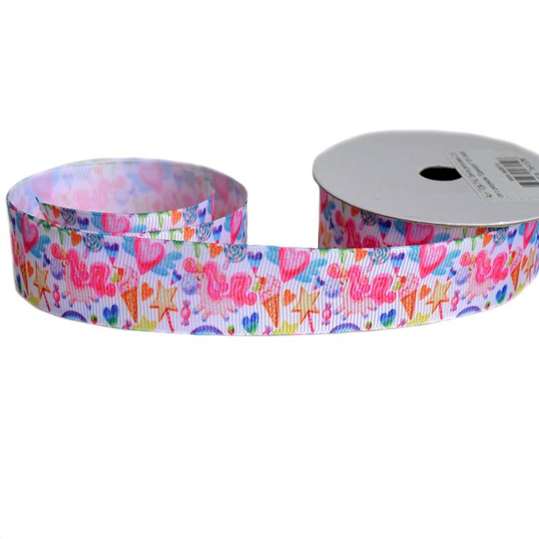 Репсовая лента «Единорог» 2,5 см (1м)