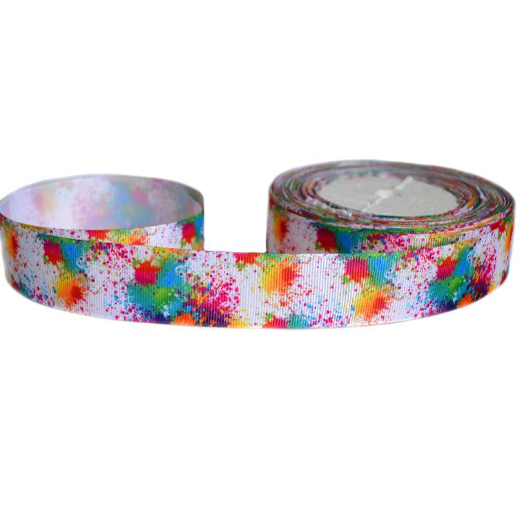 Репсовая лента «Кляксы» 2,5 см (1м)