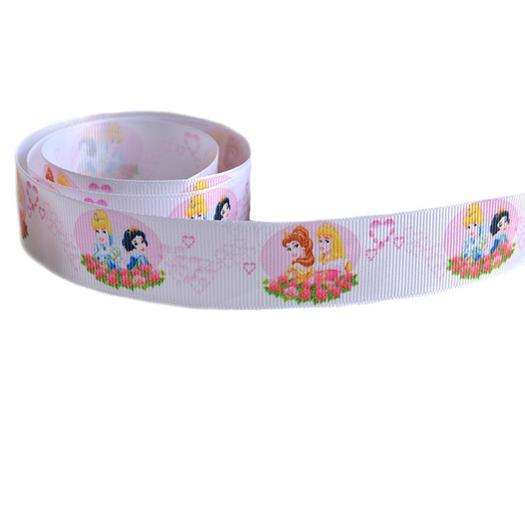 Репсовая лента «Принцессы» 2,5 см (1м)