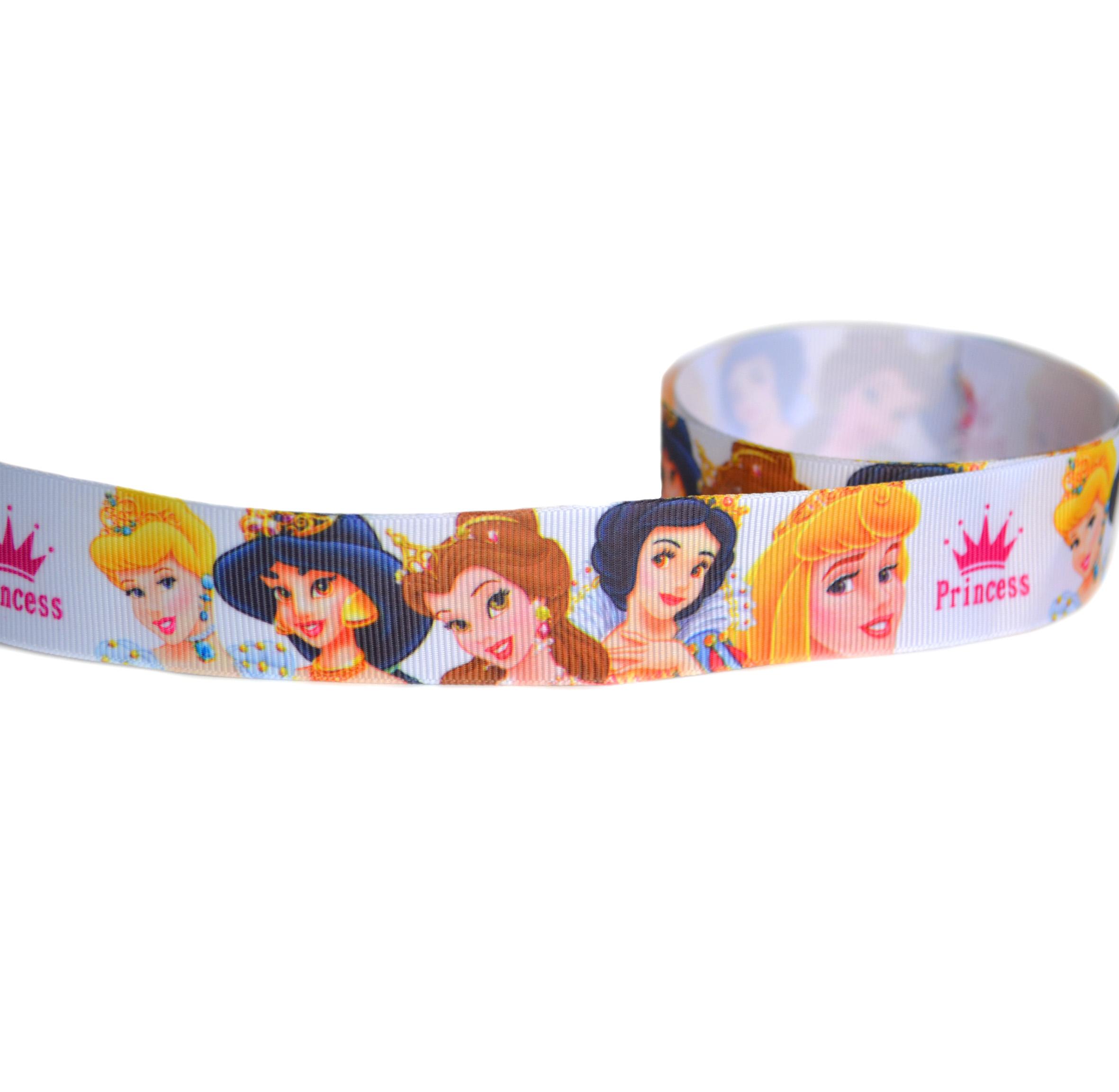 Репсовая лента «Пять принцесс» 2,5 см (1м)