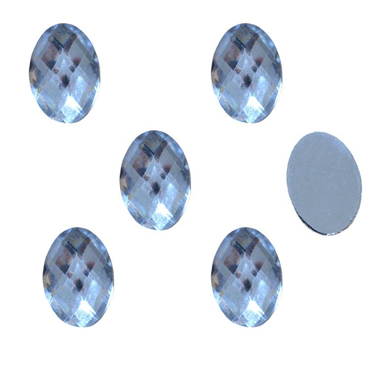 Стразы гранёные 13*18 мм, серебро