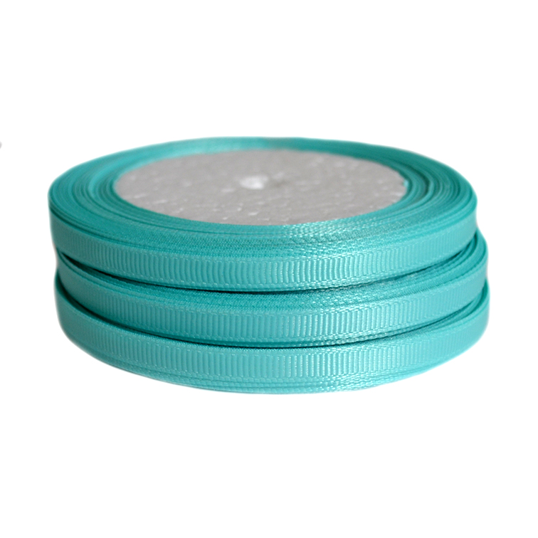 Лента репсовая 0.6 см, аквамарин (бобина)