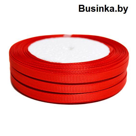 Лента репсовая 1 см, красный (бобина)
