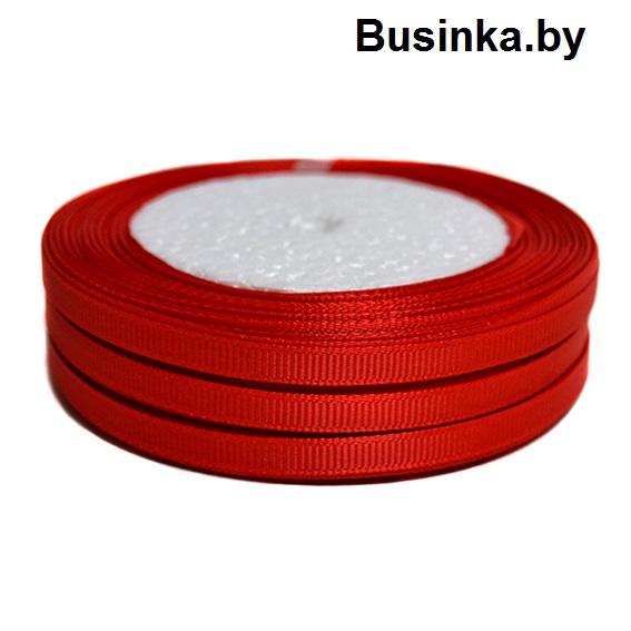 Лента репсовая 1 см, тёмно-красный (бобина)
