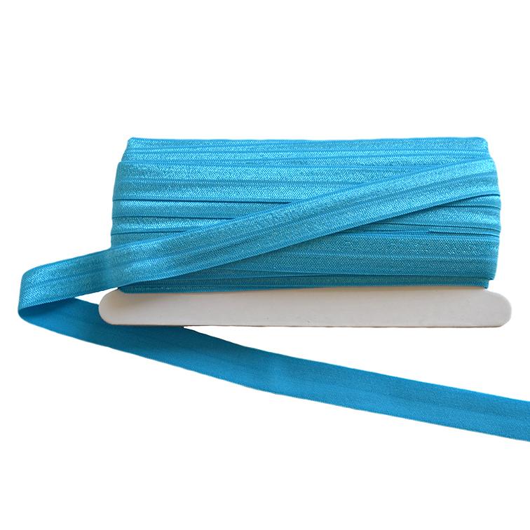 Тесьма эластичная 1,5 см (1 метр), голубой