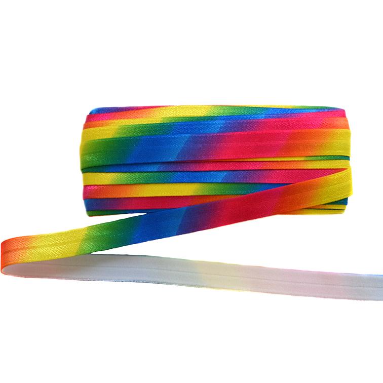 Тесьма эластичная 1,5 см (1 метр), «Радуга»