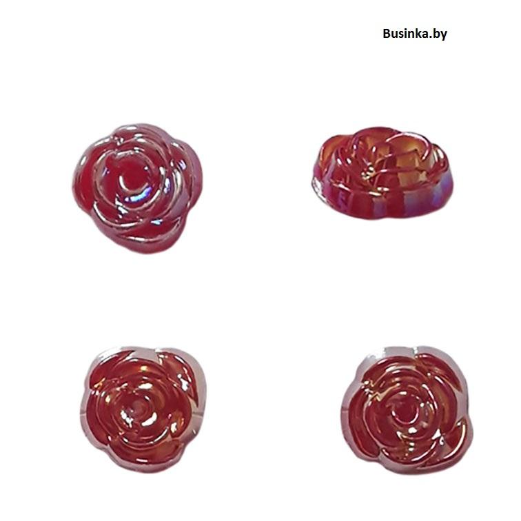 Кабошоны декоративные «Розочка» 14 мм, красный (1 шт)