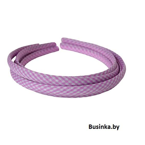 Ободок (обруч) для волос с тканью 1 см, розовый