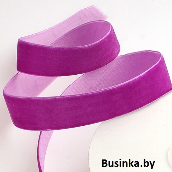 Бархатная лента 2.5 см, фиолетовый №2 (1 метр)