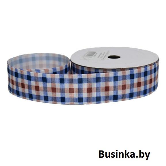 Репсовая лента «Клетка» 2,5 см (1м)