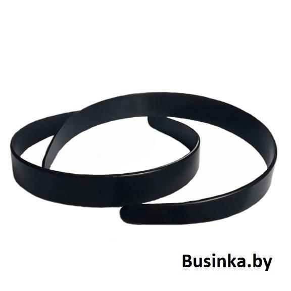 Ободок (обруч) для волос пластик 20 мм, чёрный, без зубиков