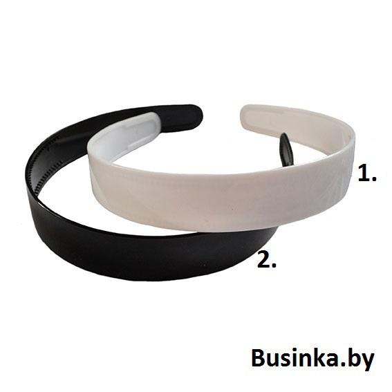 Основа для ободка пластик 2 Cм, чёрный, белый, матовый
