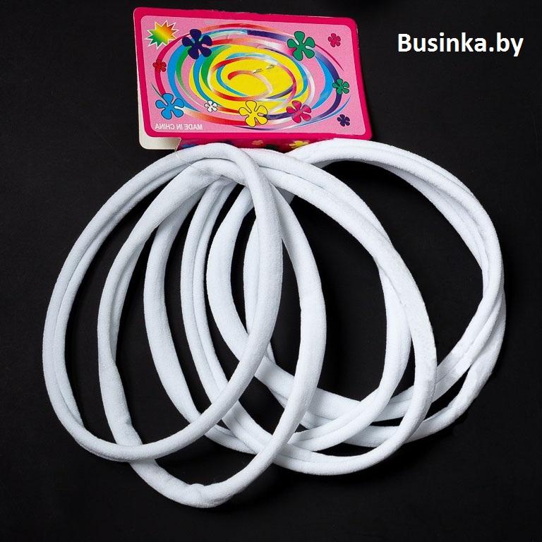 Резинки-повязки 12 см белый, ONE SIZE (6 шт)