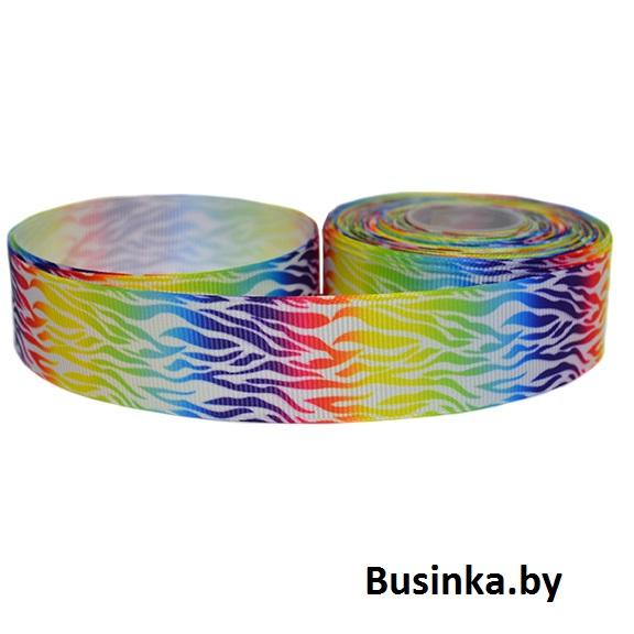 Репсовая лента «Цветная» 2,5 см (1м)