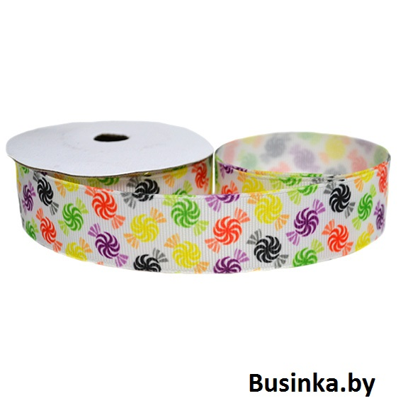 Репсовая лента «Конфети» 2,5 см (1м)