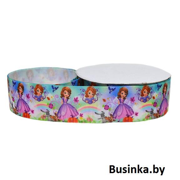 Репсовая лента «Принцесса» 2,5 см (1м)