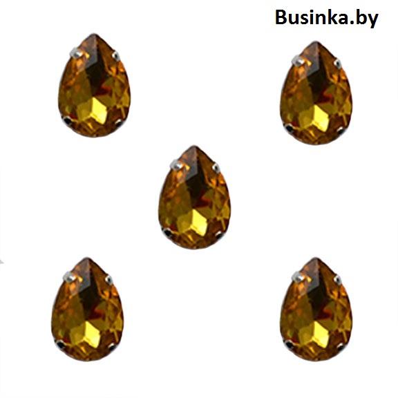 Стразы пришивные «Капелька» 18мм, золото (1 шт)
