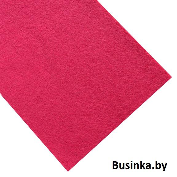 Фетр жёсткий 1 мм, ярко-розовый