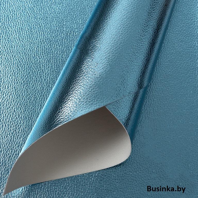 Кожзам текстурный 22*30 см, голубой (1 шт)