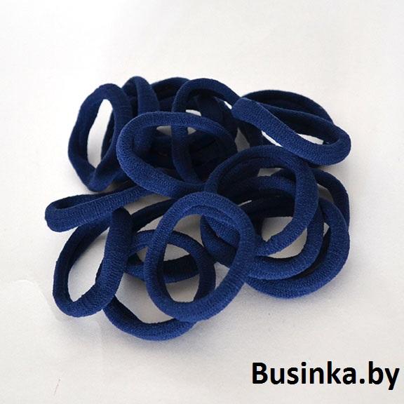 Бесшовные резинки для волос 4 см, синие (1 шт)