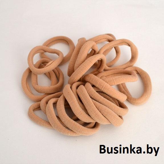 Бесшовные резинки для волос 4 см, бежевые (1 шт)