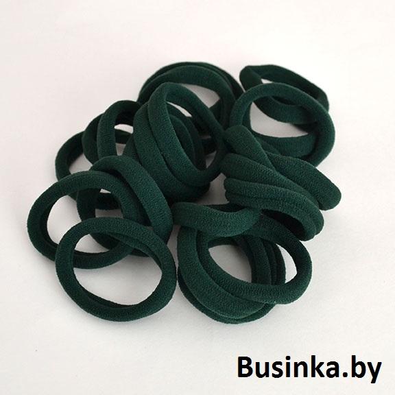 Бесшовные резинки для волос 4,5 см, тёмно зелёные (1 шт)