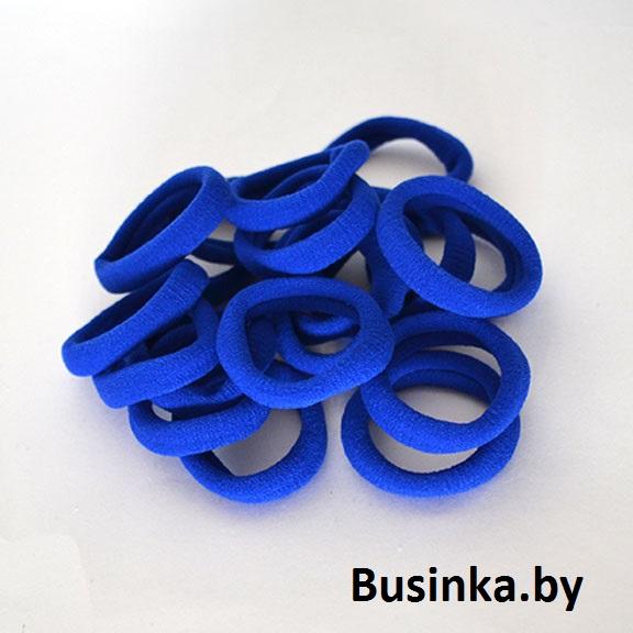 Бесшовные резинки для волос 4 см, ярко синие (1 шт)