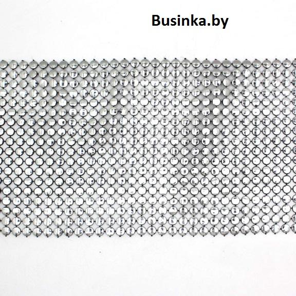 Полотно для декора, серебро (20 см)
