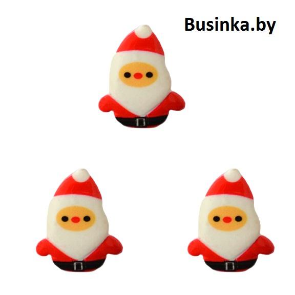 Кабошон «Санта Клаус», 18*23 мм (1 шт)