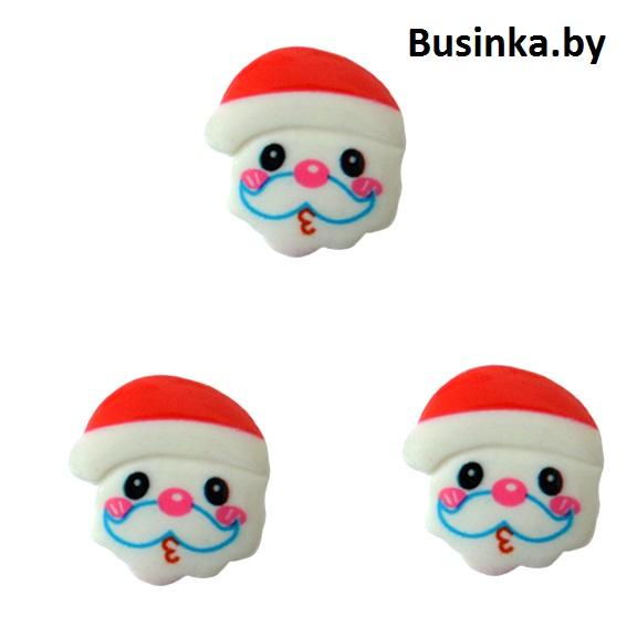 Кабошон «Дед Мороз», 21 мм (1 шт)