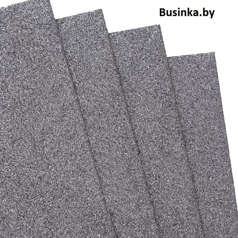 Фоамиран глиттерный 1,7-2 мм Premium 20*29.5 см, чёрное серебро (1 шт)