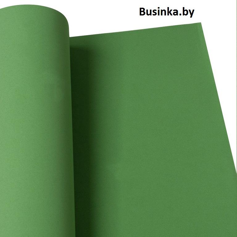 Фоамиран 1 мм 60*70 см тёмно-зелёный (1 шт), Иранский