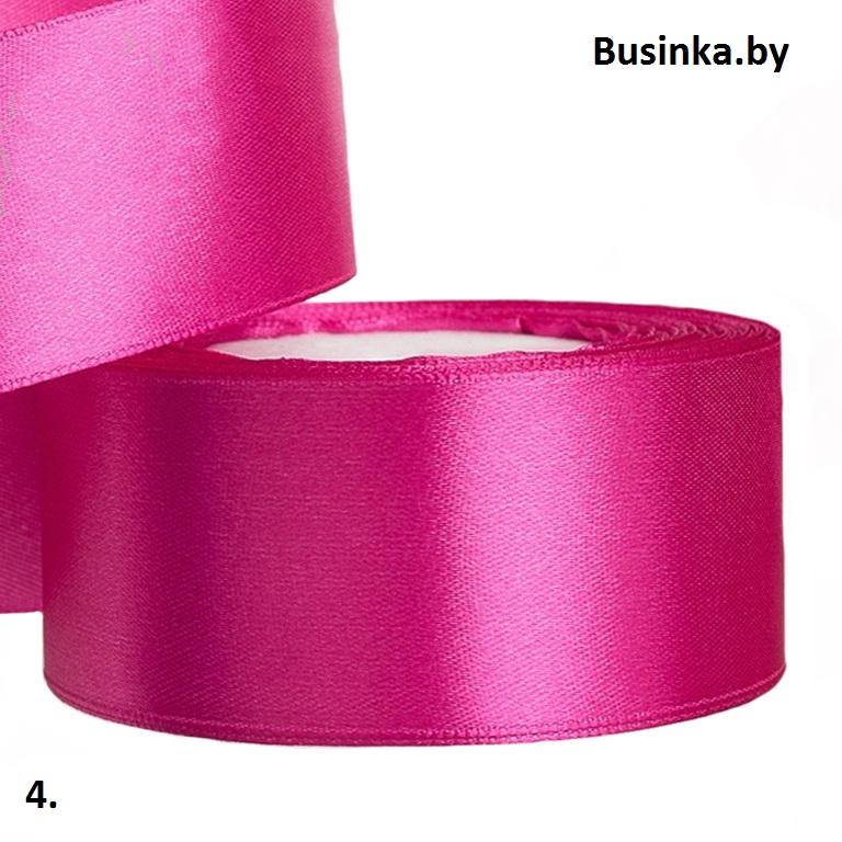 Атласная лента 5 см (бабина) фукси