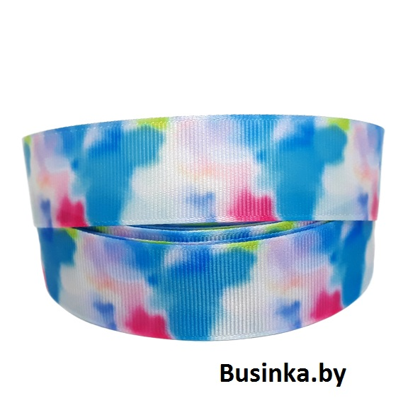 Репсовая лента «Разноцветная» 2,5 см (1м)