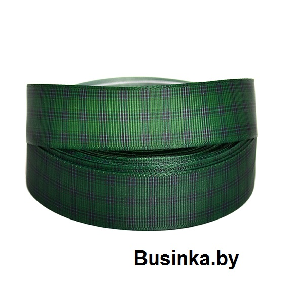 Репсовая лента «В клетку» 2,5 см (1м)