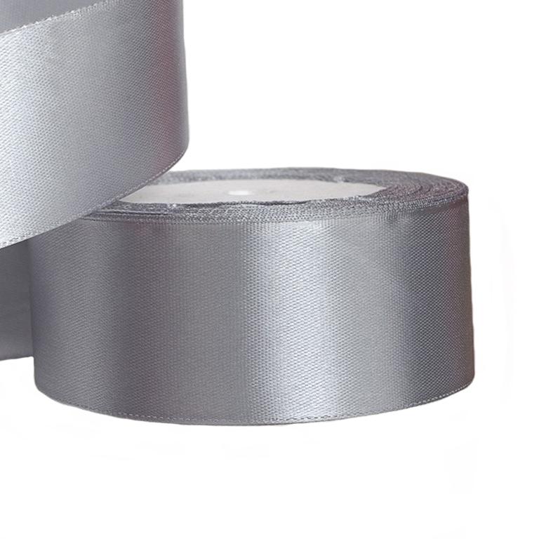 Атласная лента 5 см (1 метр), серый