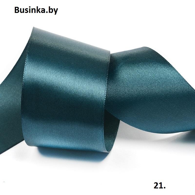 Атласная лента 5 см (бабина) тёмно-зелёный