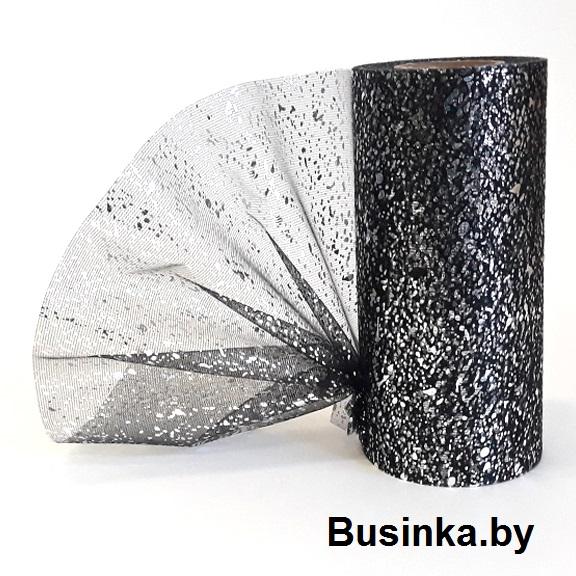 Фатин «Капли» 15 см чёрный