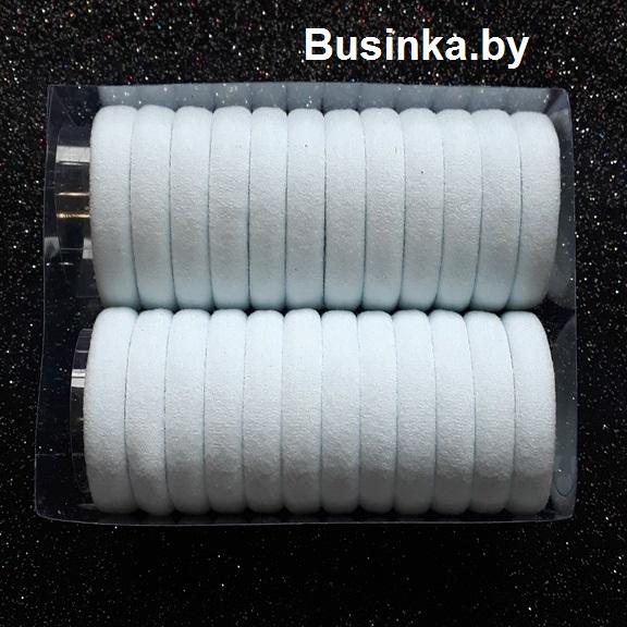 Бесшовные резинки для волос 4.5 см, (набор 24шт), белый