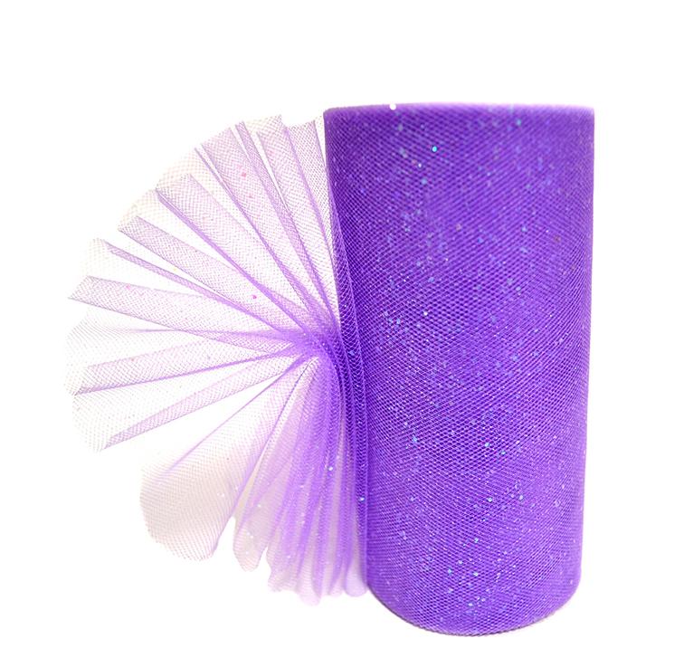 Фатин с блёстками 15 см, фиолетовый (1 метр)