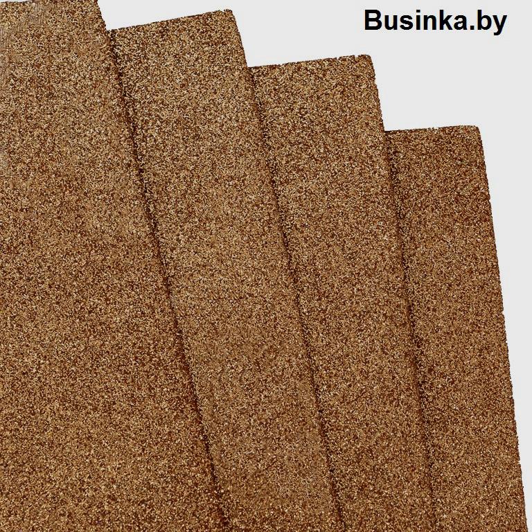 Фоамиран глиттерный 1,7-2 мм Premium 20*29.5 см, коричневый (1 шт)