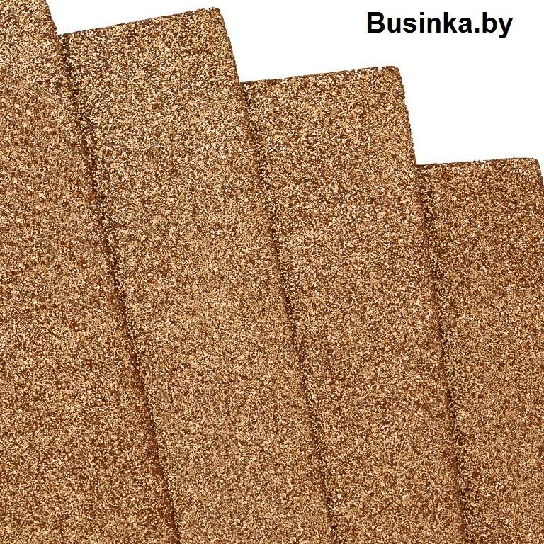 Фоамиран глиттерный 2 мм Premium 20*29.5 см, светло коричневый (1 шт)