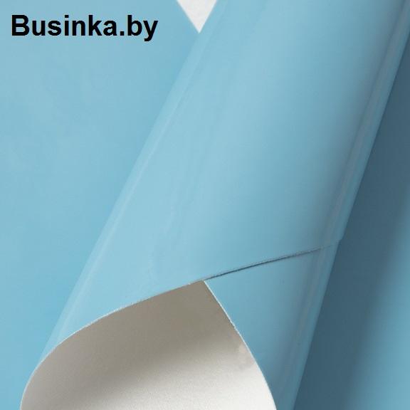 Кожзам гладкий 20*30 см, голубой (1 шт)