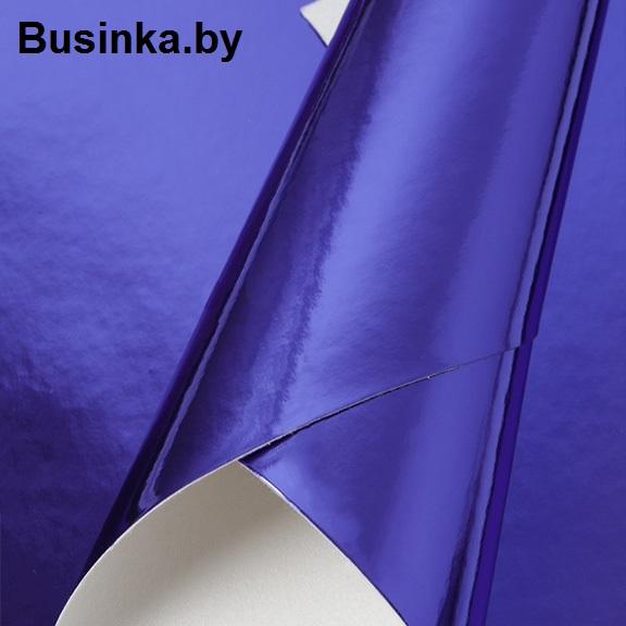 Кожзам зеркальный 20*30 см, синий (1 шт)