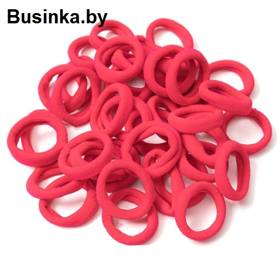 Бесшовные резинки для волос 3 см, ярко-розовый (1 шт)