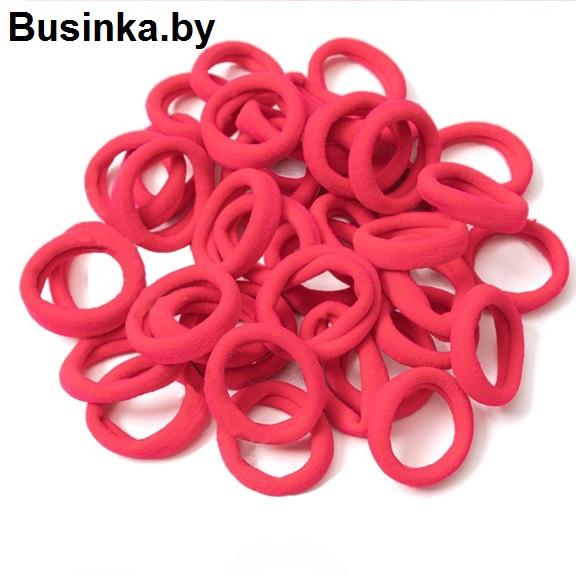 Бесшовные резинки для волос 3 см, ярко-розовый №2 (1 шт)
