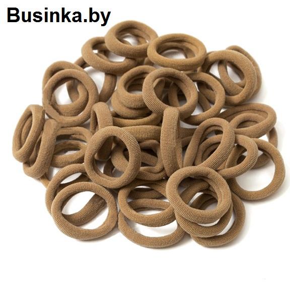 Бесшовные резинки для волос 3 см, коричневый (1 шт)