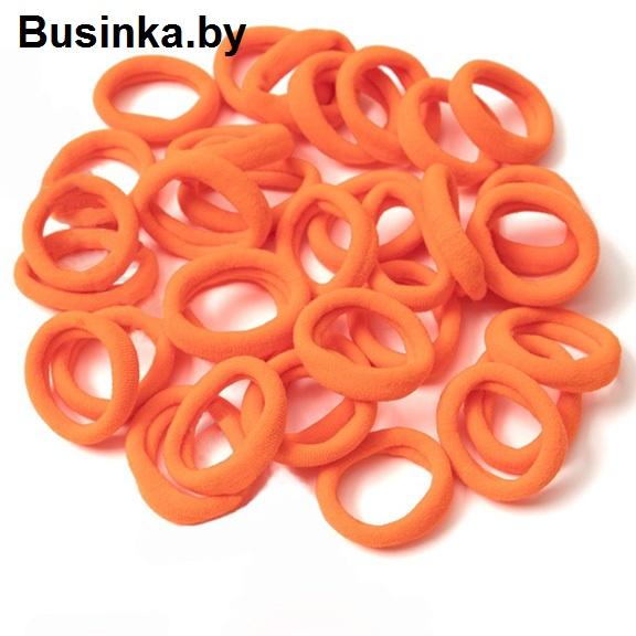 Бесшовные резинки для волос 3 см, оранжевый (1 шт)