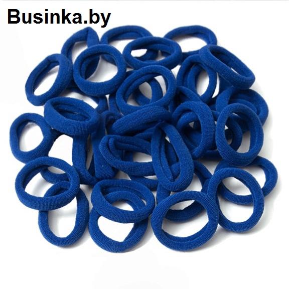 Бесшовные резинки для волос 3 см, синий (1 шт)